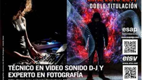 Curso Técnico en Vídeo, DJ y Sonido y Técnico Experto en Fotografía - Doble Titulación Oficial