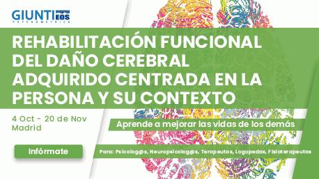 Curso Rehabilitación Funcional del Daño Cerebral Adquirido centrada en la Persona y su Contexto